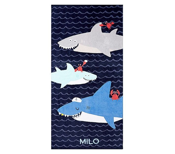 Sharks Beach Towel With Images Beach Towel Kids Beach Towels