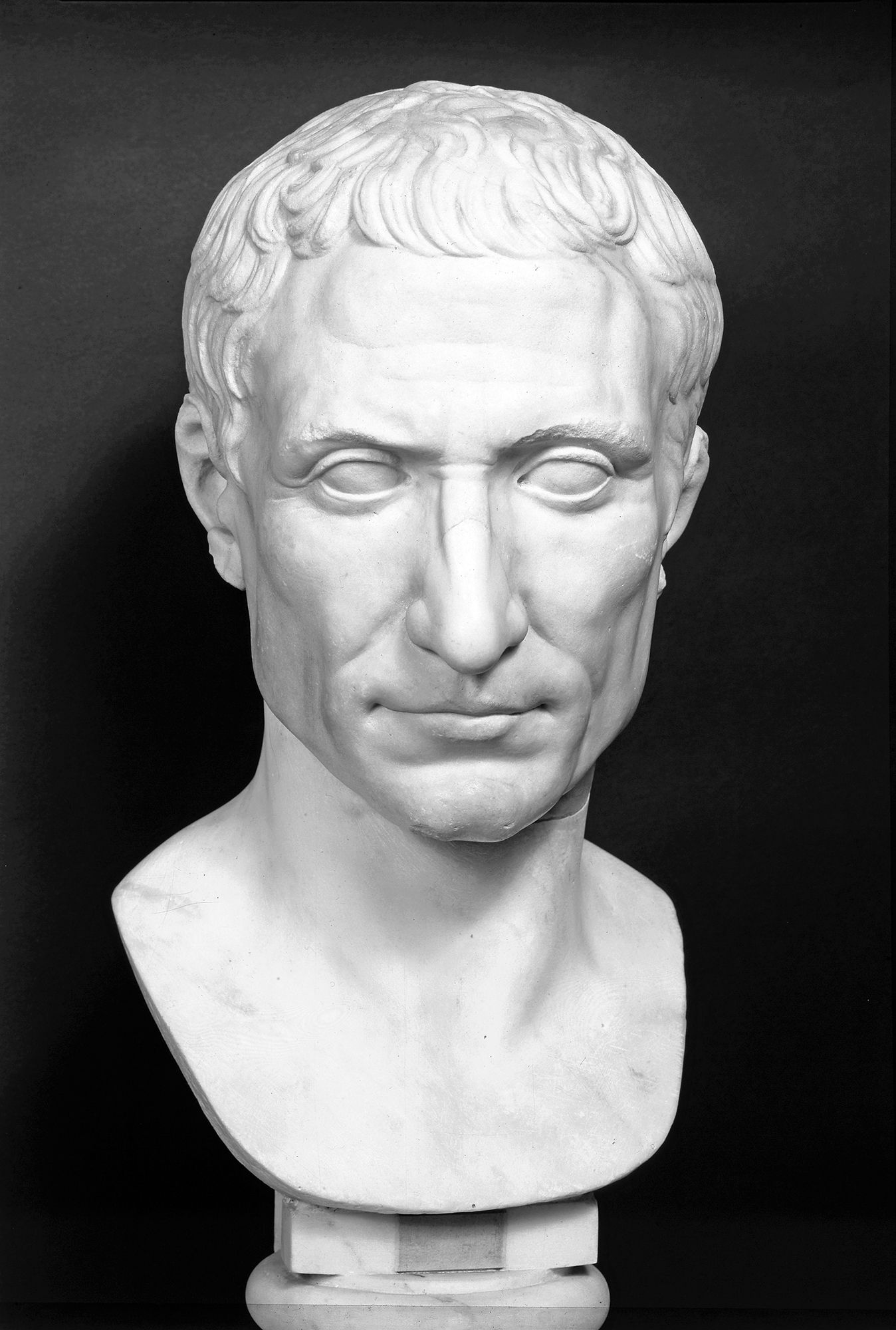 Julius Caesar This Marble Bust Shows Something Of The Man