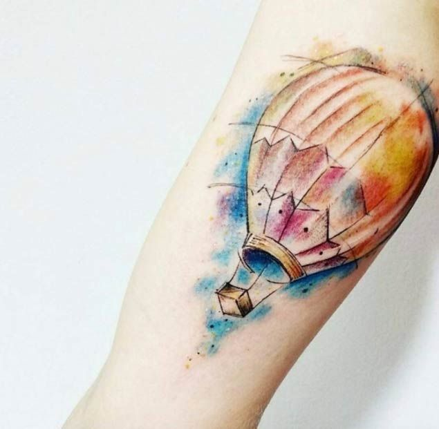48 Incredible Hot Air Balloon Tattoo Designs Hot Air Balloon
