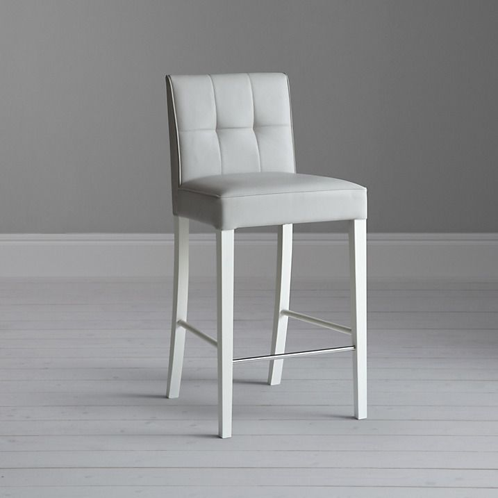 Pleasant John Lewis Partners Simone Faux Leather Bar Chair Grey Gmtry Best Dining Table And Chair Ideas Images Gmtryco
