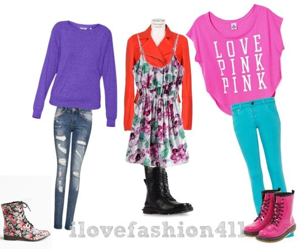 """""""Outfits w/ Combat Boots"""" by ilovefashion411 on Polyvore"""