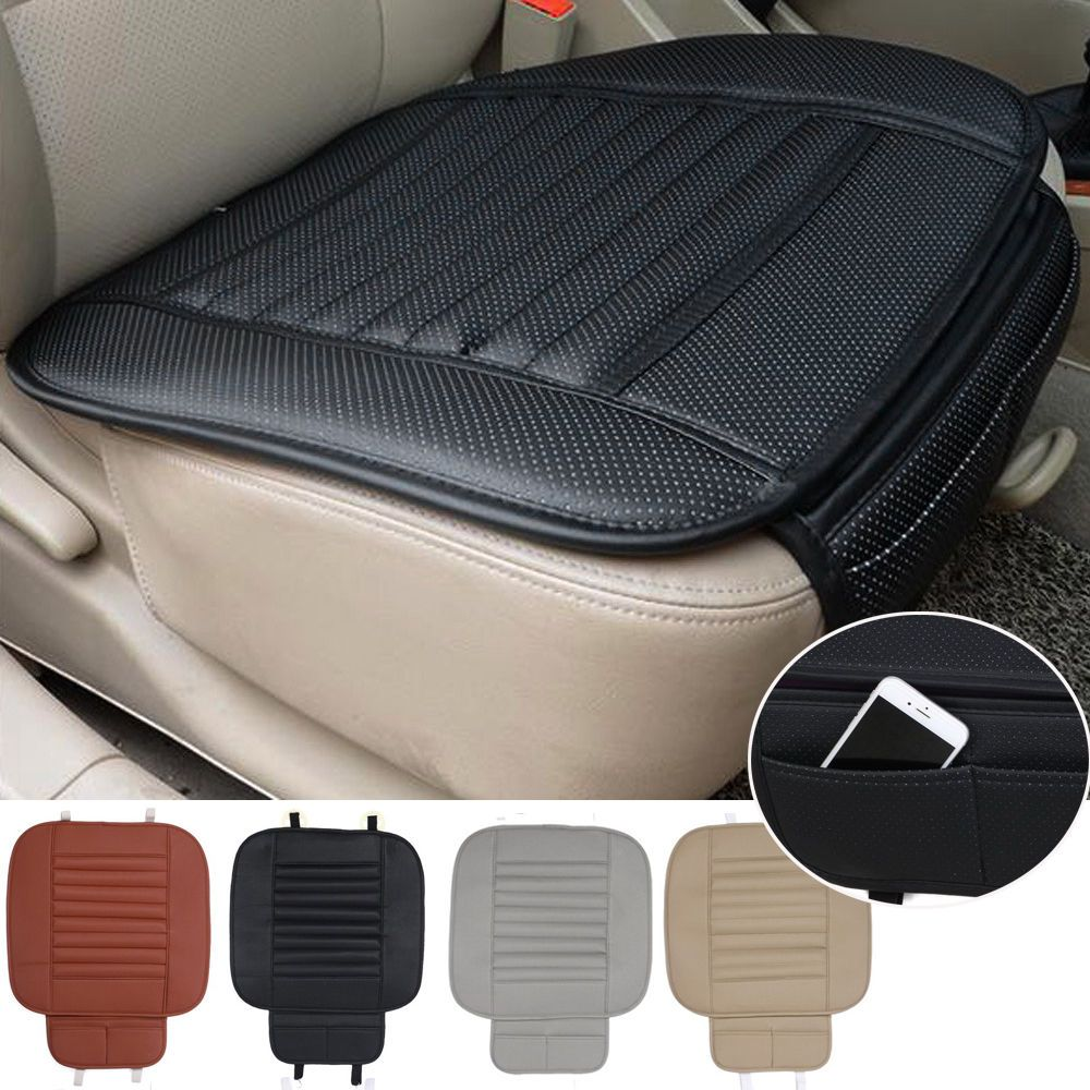 Pu Leather Car Front Seats Cover Bamboo Single Bucket Seat
