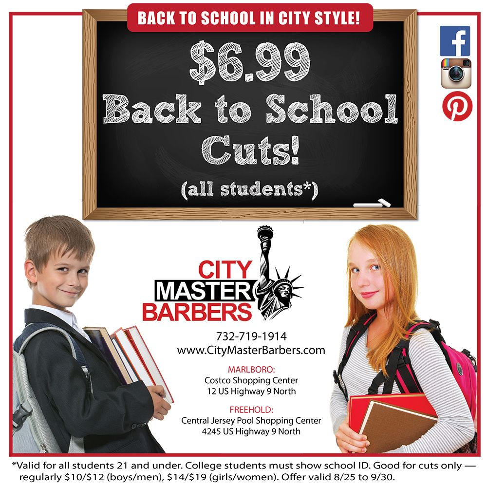 Its Officially Back To School Check Out Our Deal For Student Cuts