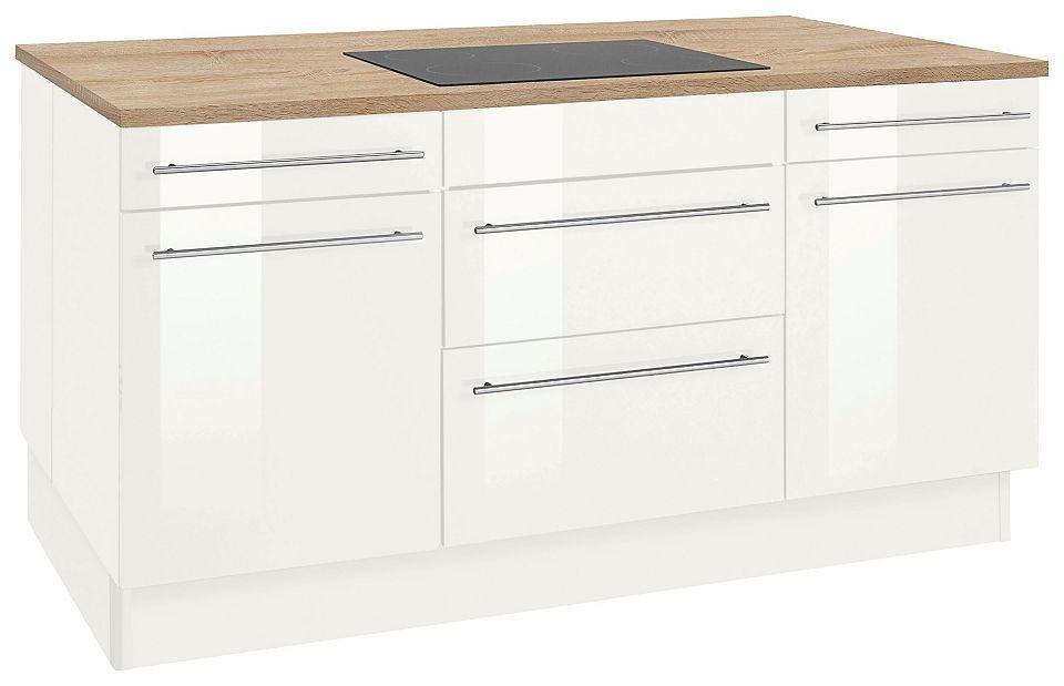 Optifit Kochinsel ohne E-Geräte »Bern«, Stellmaße 160 x 95 cm - küchenzeile 220 cm mit elektrogeräten
