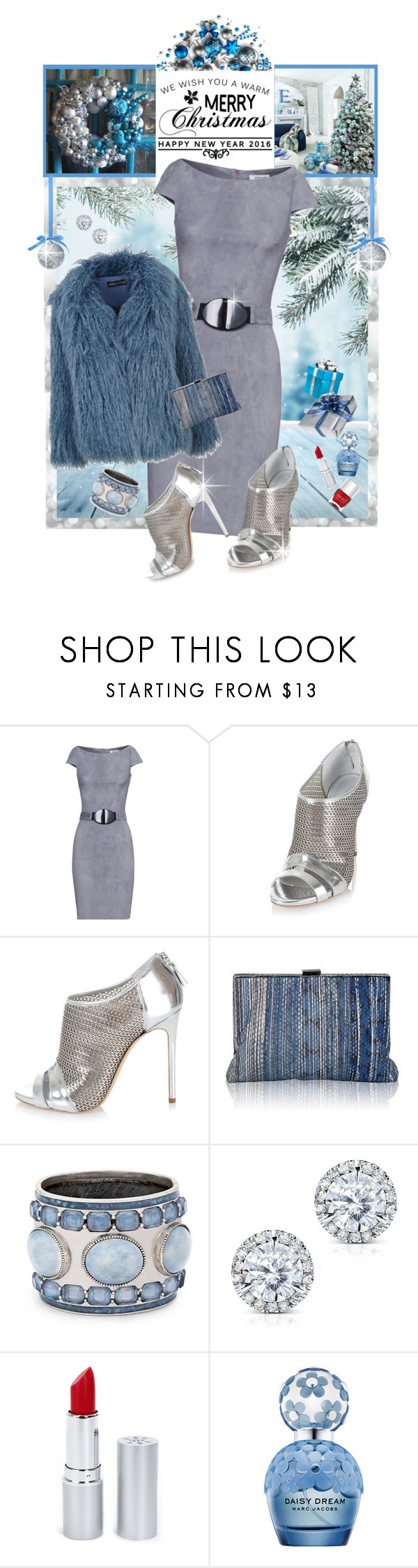 """""""Merry Christmas..Happy Holidays!!!"""" by shortyluv718 ❤ liked on Polyvore featuring Jitrois, Casadei, Topshop, Inge Christopher, Chico's, Kobelli, HoneyBee Gardens, Marc Jacobs and Nails Inc."""