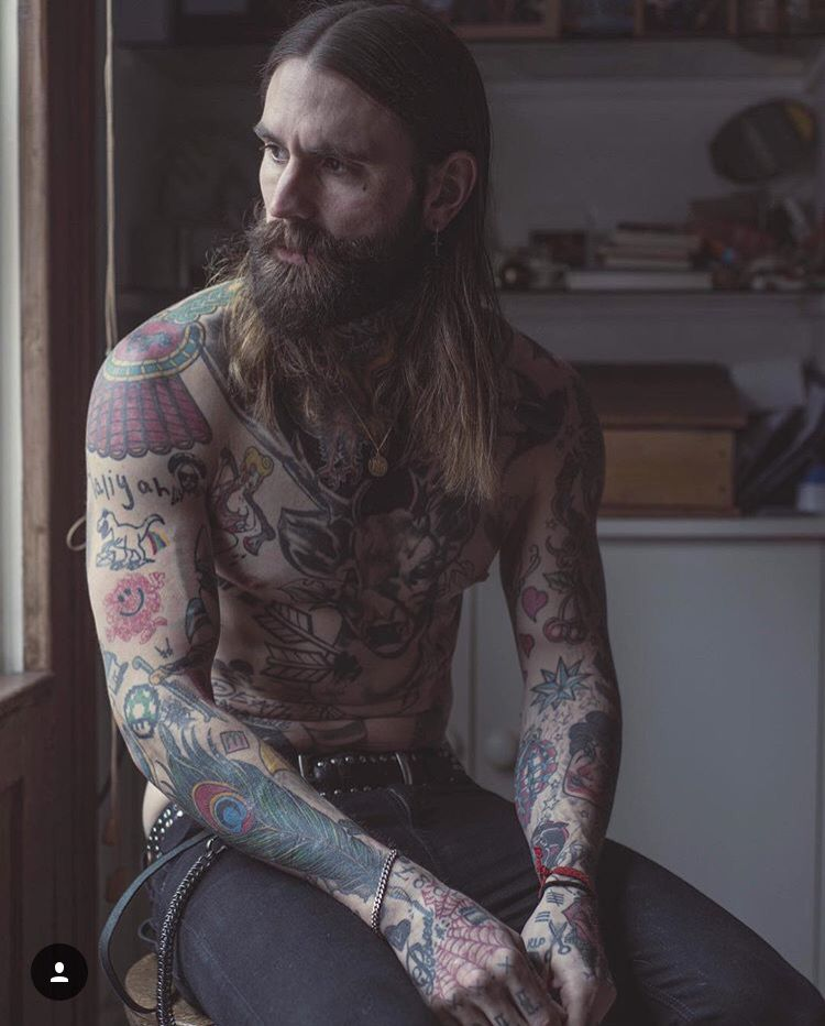 Ricki Hall beard beards tattoos