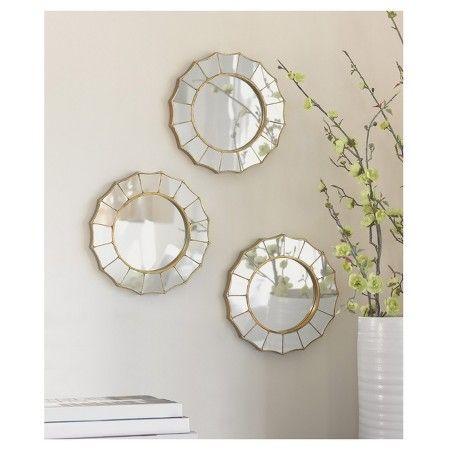 sunburst mirror target wall decor