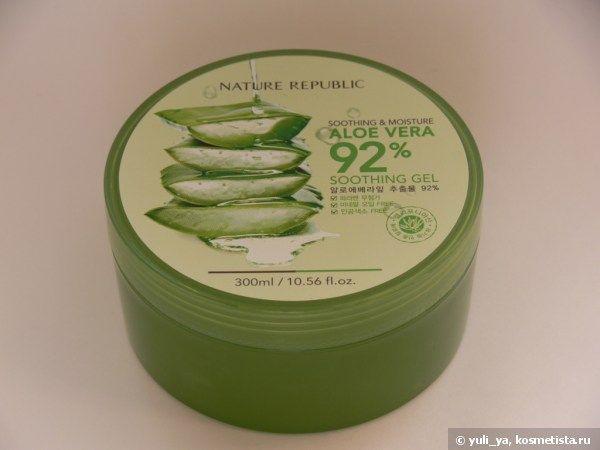 Увлажняемся с Nature Republic New Soothing & Moisture Aloe Vera Gel 92% отзывы и рейтинг — Отзывы о косметике — Косметиста