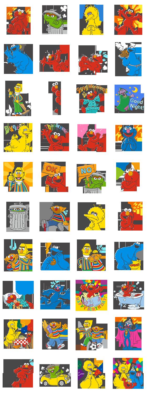 Sesame Street Line Stickers セサミストリート マペット エルモ