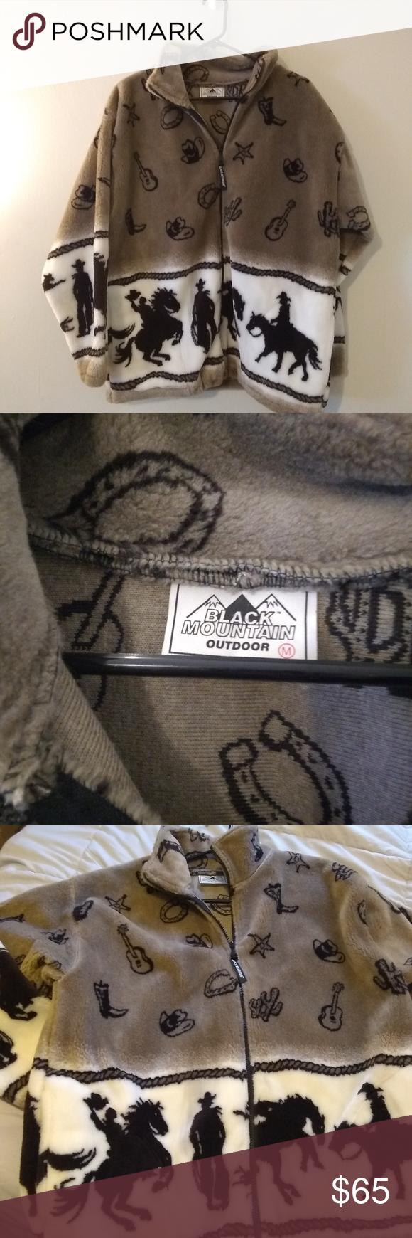 Black Mountain Outdoor Cowboy Fleece Jacket Clothes Design Fashion Fleece Jacket [ 1740 x 580 Pixel ]