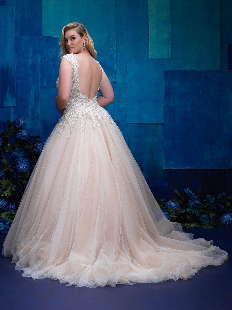 Allure Bridals W394 Plus Size Wedding Gown Weddingdresses Wedding Bride Allurebridals A Plus Size Wedding Gowns Spring Wedding Dress Plus Wedding Dresses [ 1067 x 800 Pixel ]