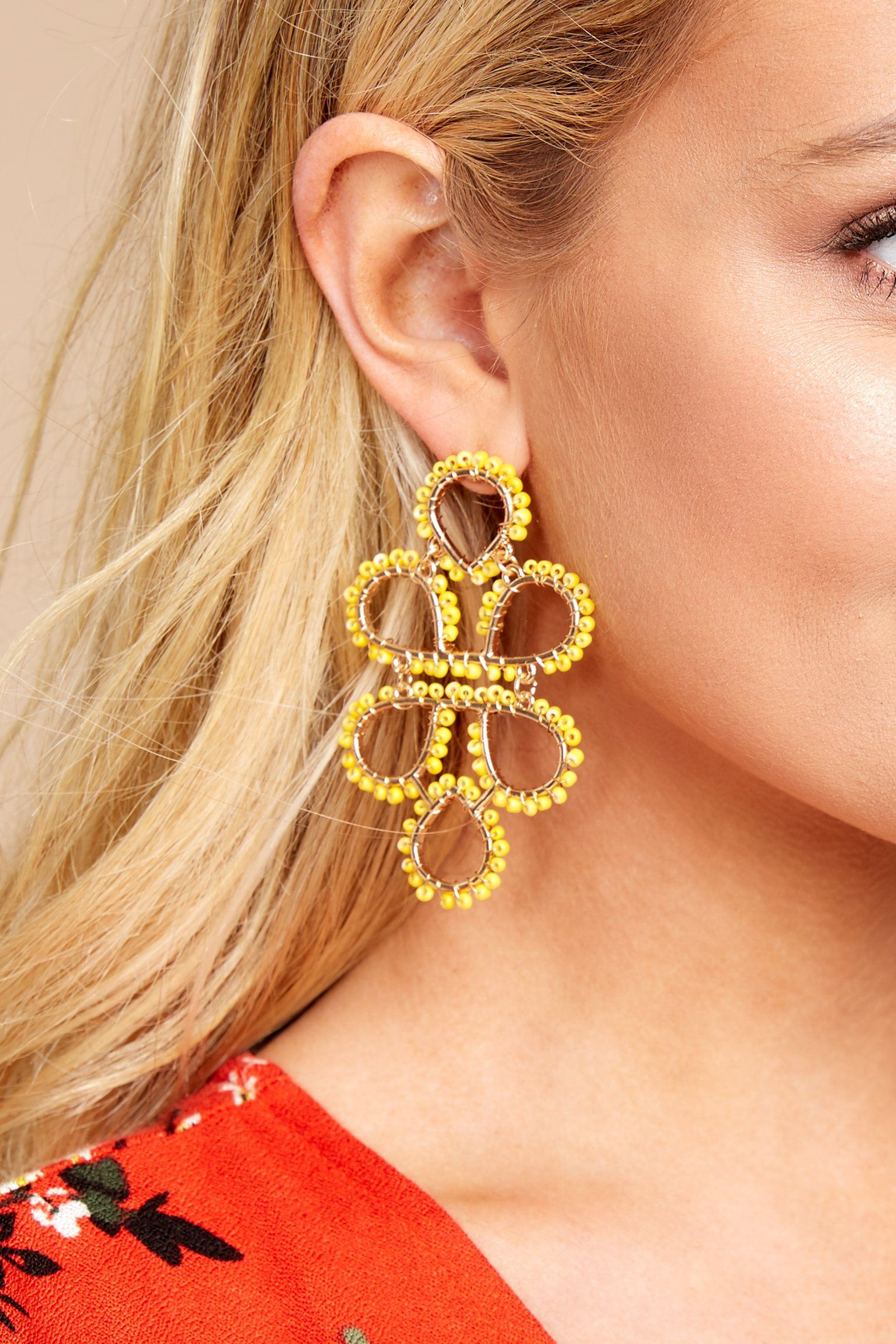 On Another Level Yellow Statement Earrings In 2019