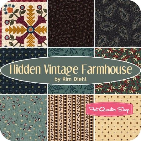 Hidden Vintage Farmhouse Fat Quarter BundleKim Diehl for Henry Glass Fabrics