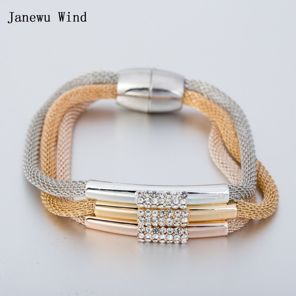 Janewu wind elgant design magnetic clasp bracelets fashion women
