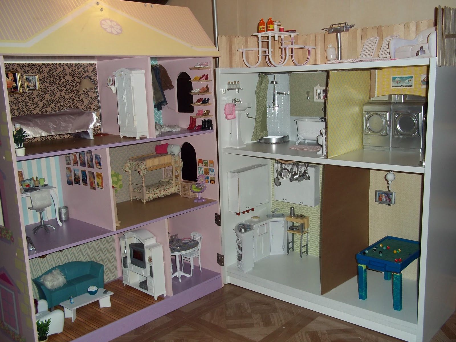 Girls In A Cottage Diy Dollhouse Revamp Yep, Adding The