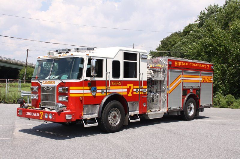 Camden Nj Fd Squad 7 Pierce Rescue Pumper Fire Trucks Lego Fire Fire Emt