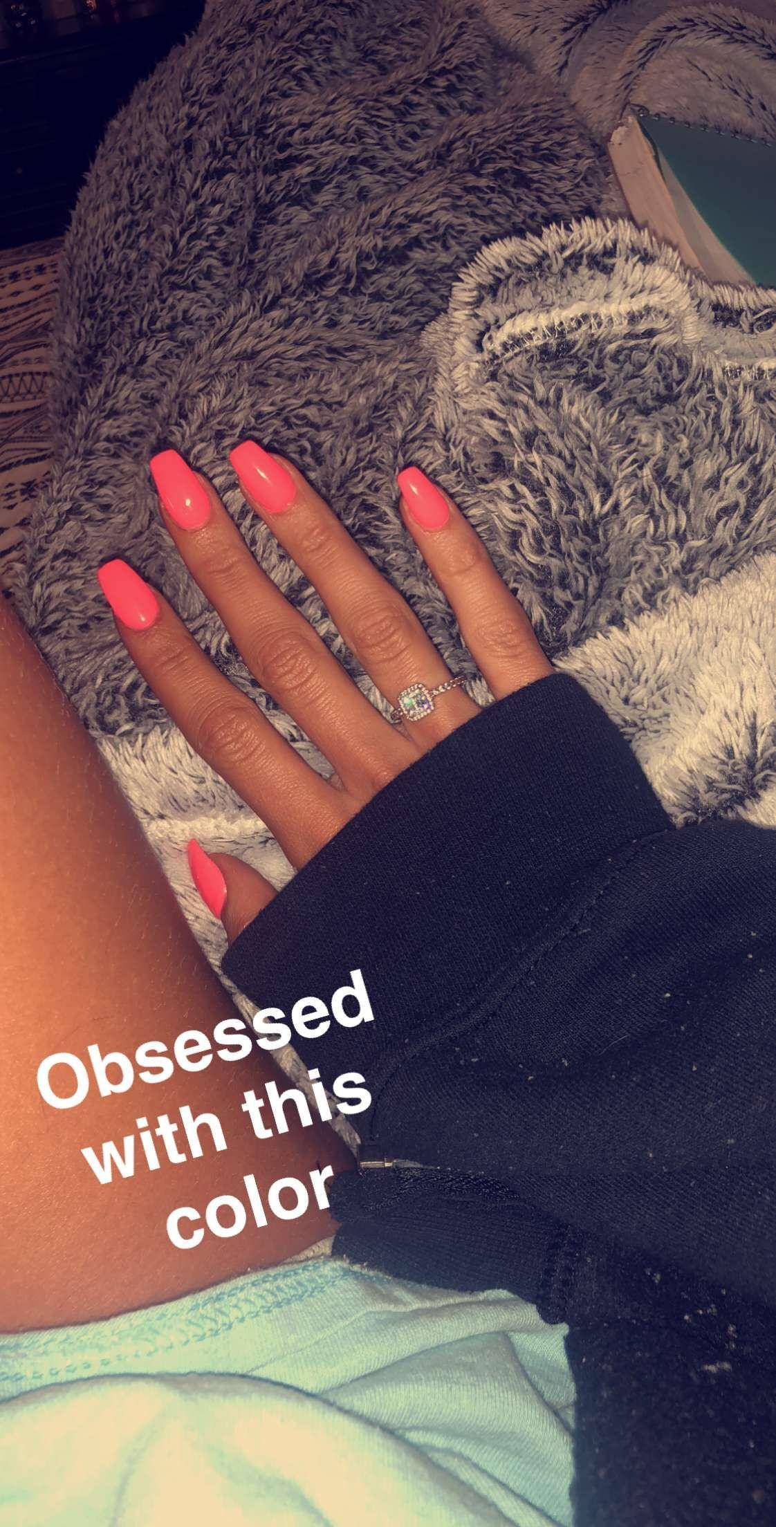 bright summer nail color #nails