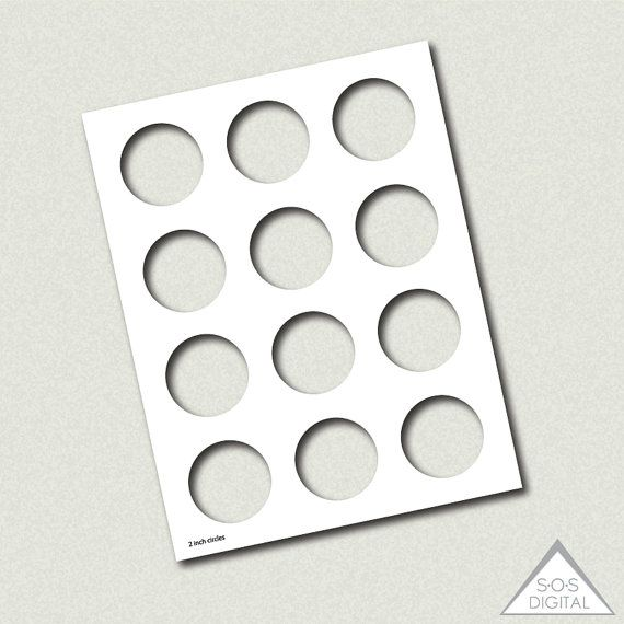 2 inch circle template, party printable template, PNG template - circle template