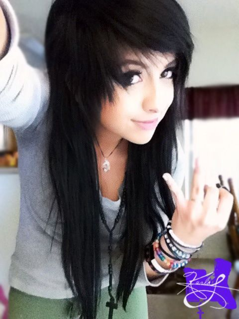 Pin By Mickyj 3 On Emo Hairstyles Black Hair With Images