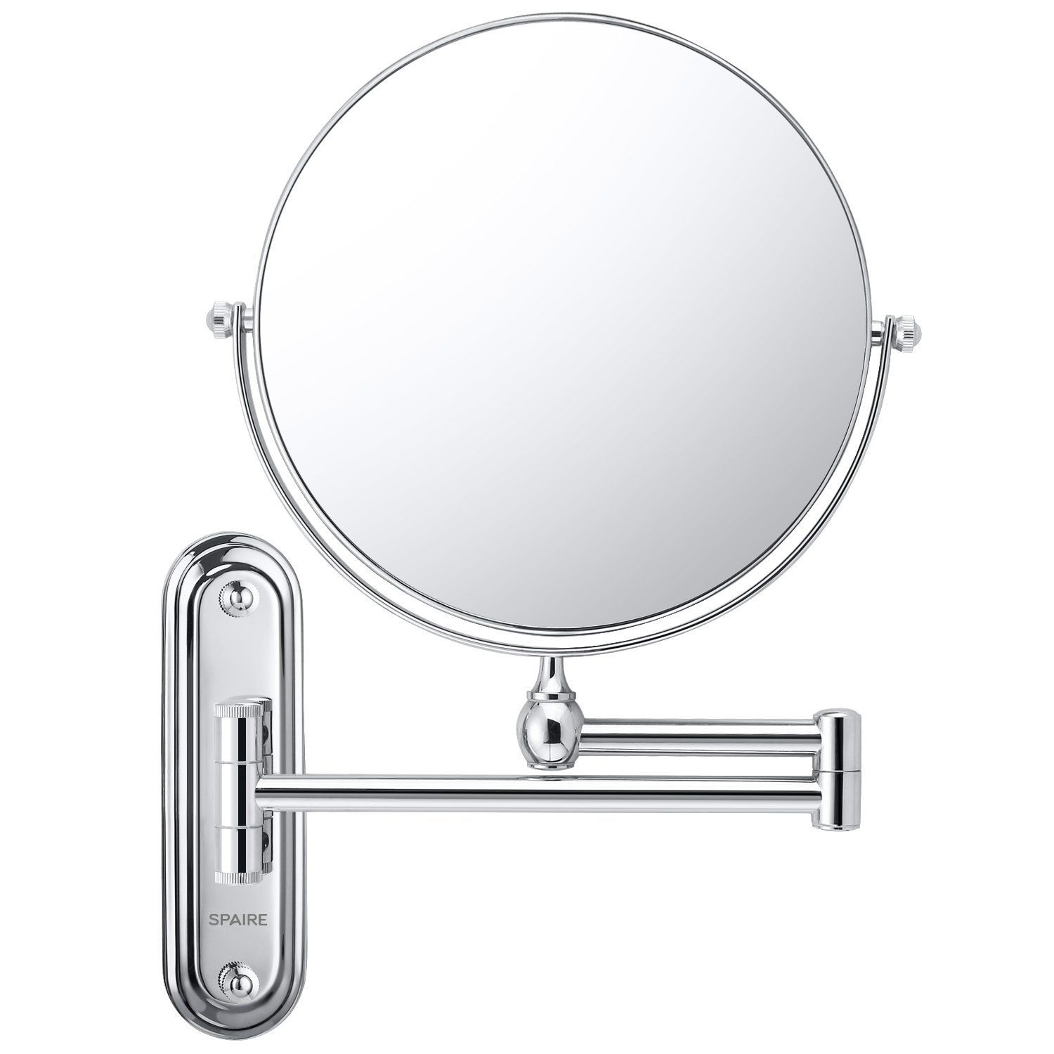 Spaire Bathroom Mirror 7x Magnification Normal Double Sided