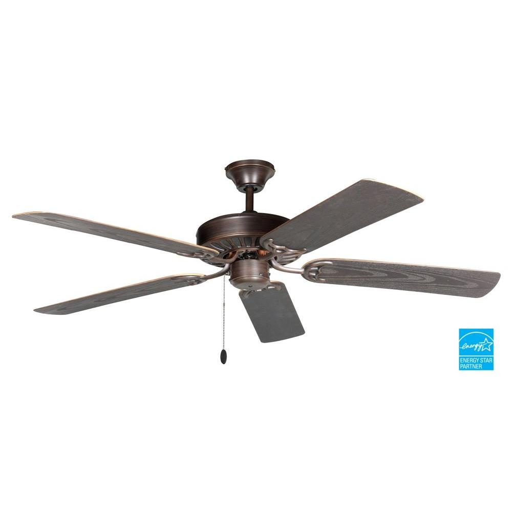 Troposair Proseries Builder 52 In Pure White Indoor Ceiling Fan 88800 The Home Depot Outdoor Ceiling Fans Ceiling Fan Bronze Ceiling Fan 52 inch outdoor ceiling fan