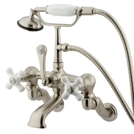 Kingston Brass Vintage Adjustable 3 3 8 Clawfoot Tub Faucet Tub