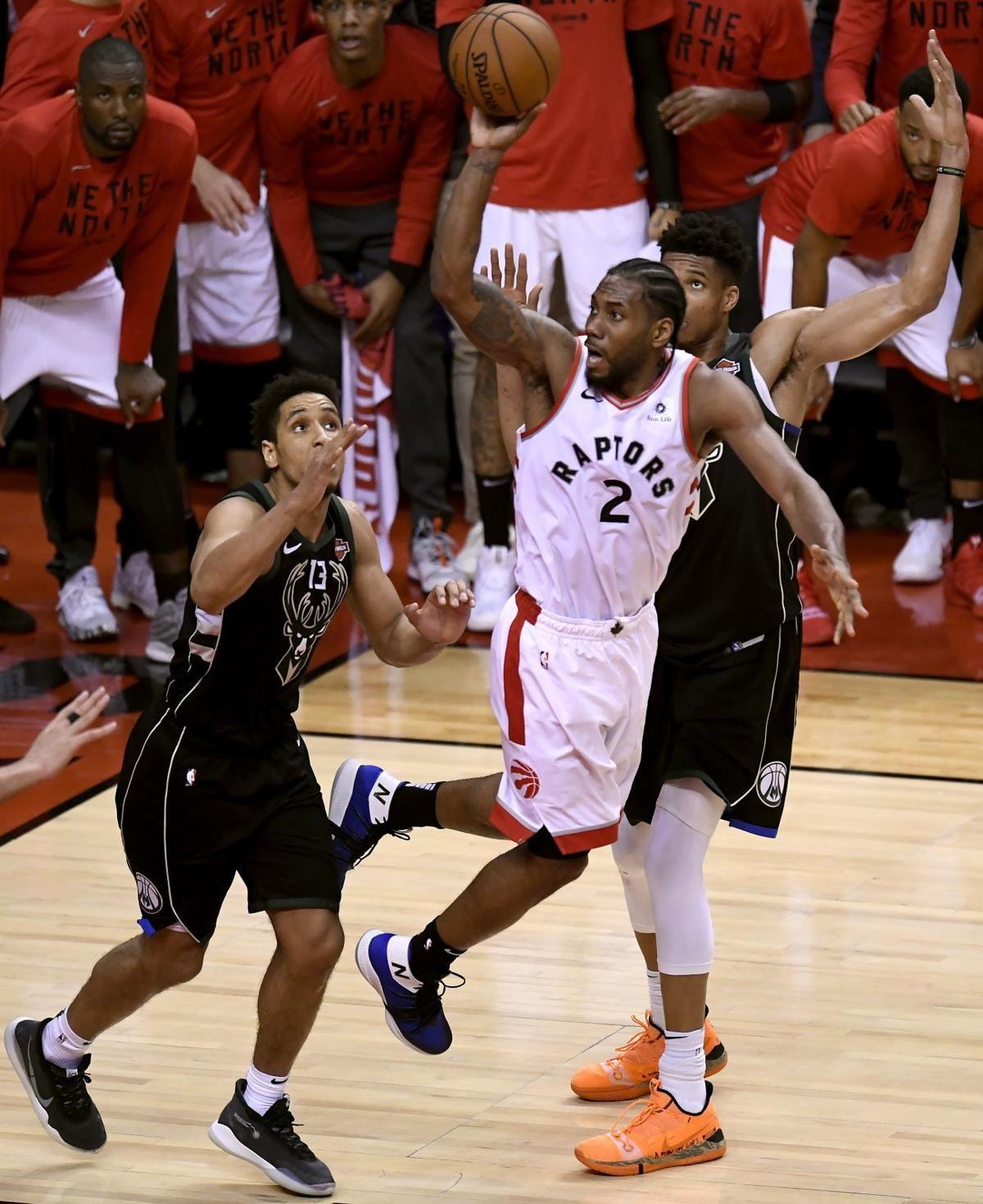 LEONARD SCORES 27 RAPTORS ADVANCE TO FIRST NBA FINALS in
