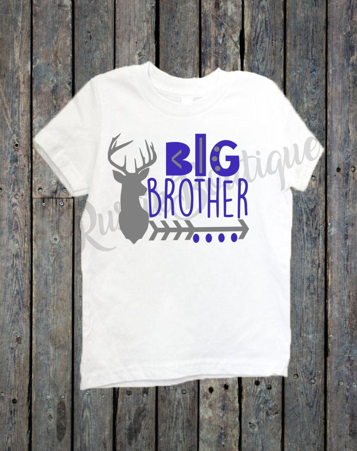 251a2bfa3815a Big Brother Shirt/ Big Sister Shirt/ Sibling shirts/ Deer head shirt ...