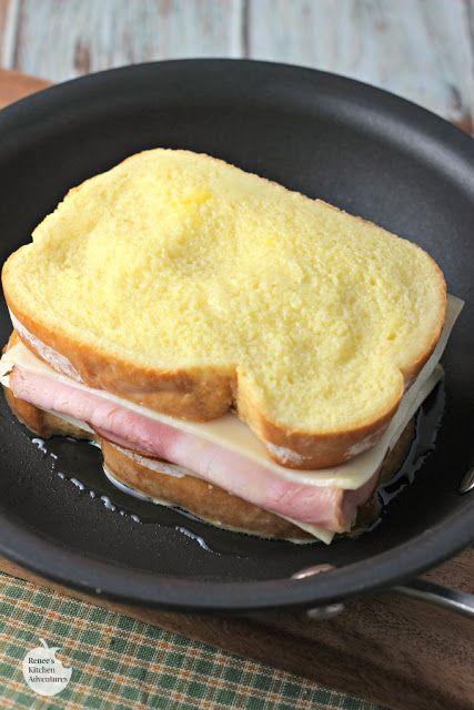 Monte Cristo Style Grilled Cheese Sandwich #montecristosandwich