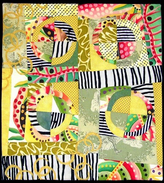Take a look at this happy quilt by fiber artist Joanell . I love ... : quilting artist - Adamdwight.com