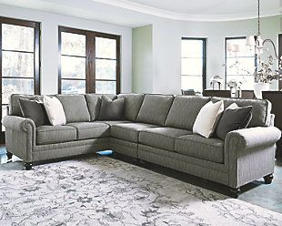 Graphite Kittredge Sectional View 1 If we forgo the end table on the right side.this is 8 ft long and i think timberlea furniture may be able to get it. : 8 ft sectional sofa - Sectionals, Sofas & Couches