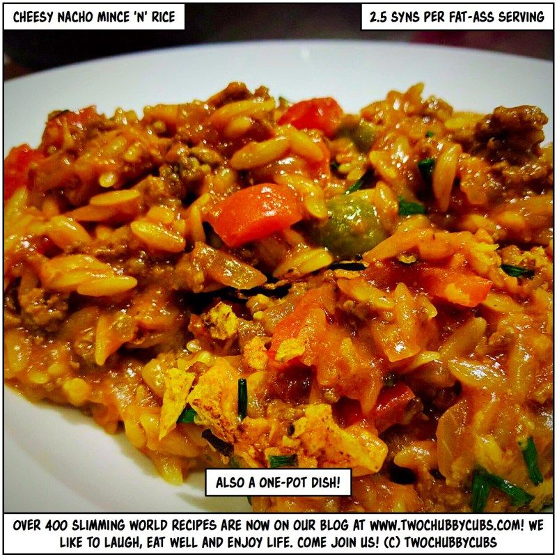 Low Syn Cheesy Nacho Mince And Rice Healthy Pork Recipes Minced