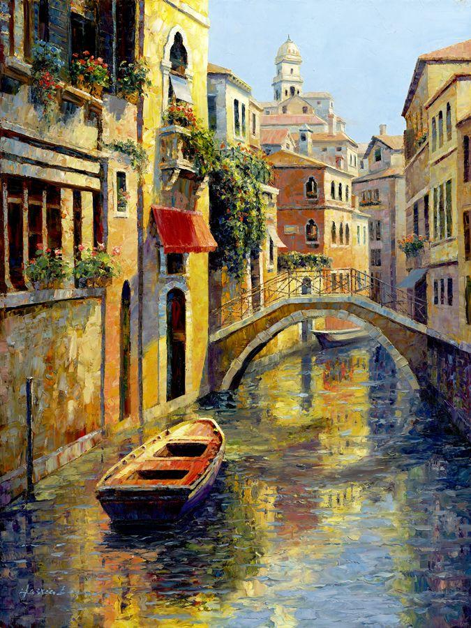 она итальянский город рисунок его фоне объекты