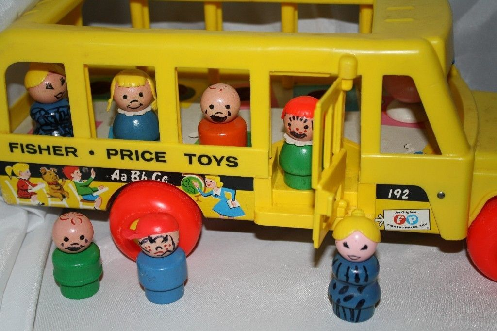 Vintage 8 Piece Fisher Price Little People Play Family