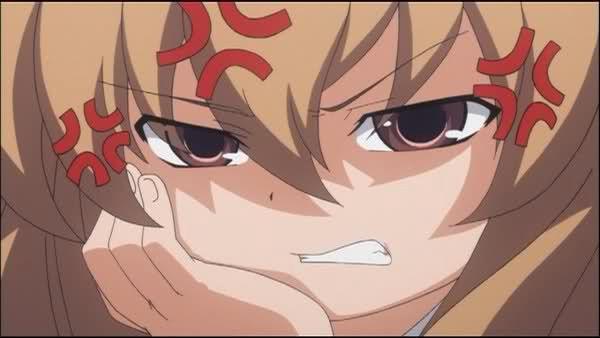 Annoyed Anime Expression Anime Expressions Toradora Anime
