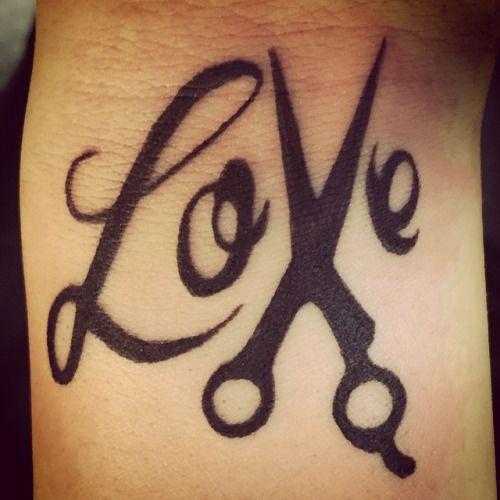 Briskeart Scissors Tattoo Tattoos Hairdresser Tattoos