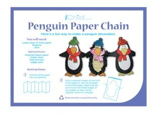 Using Our Fantastic Penguin Paper Chain Template Your Child Can