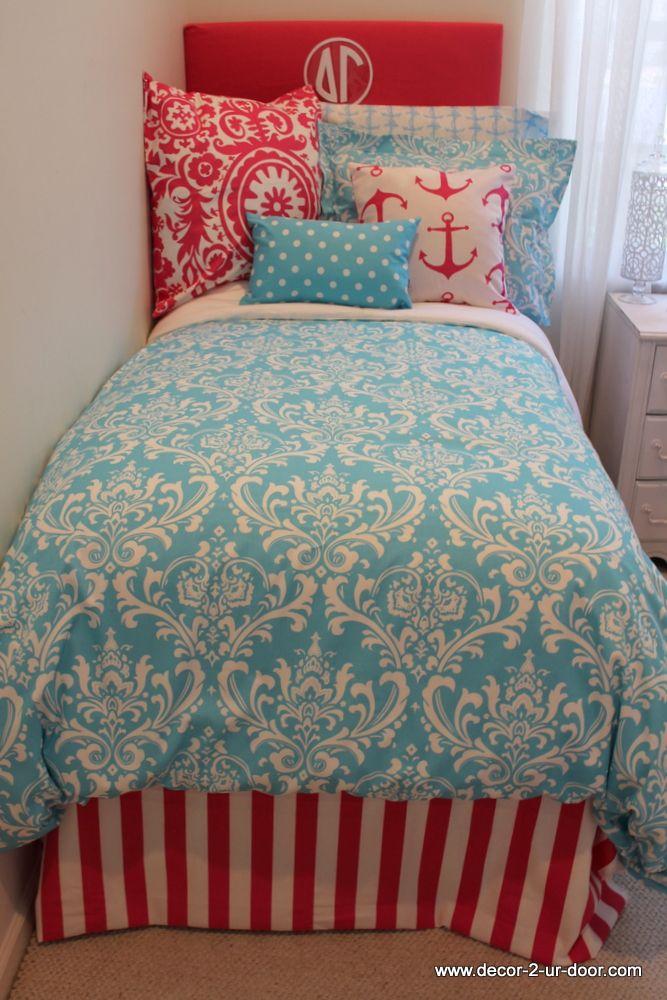 Design Your Own Dorm Room: Anchor Delta Gamma Custom Bedding Perfect For Dorm Or