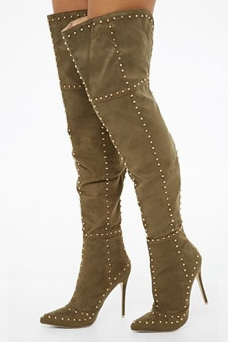 f91f66cbcd13 Mackin J Studded Over-The-Knee Boots