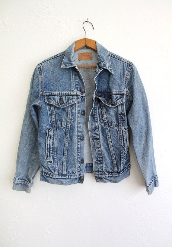 120c748c Vintage 80s Acid Wash Levi's Denim Jacket // Women's Worn-In Levi ...