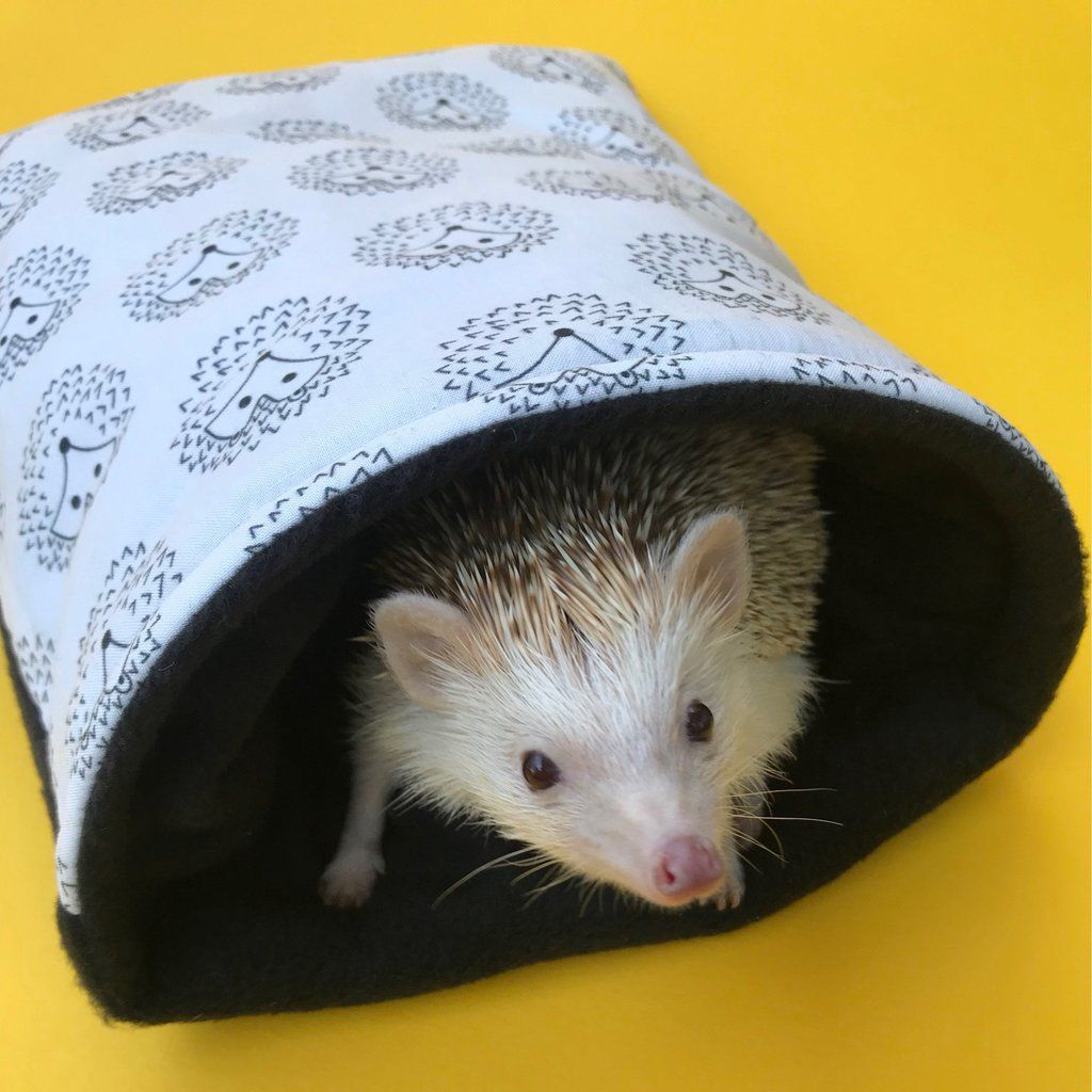 Black And White Hedgehog Cosy Snuggle Cave Padded Stay Open