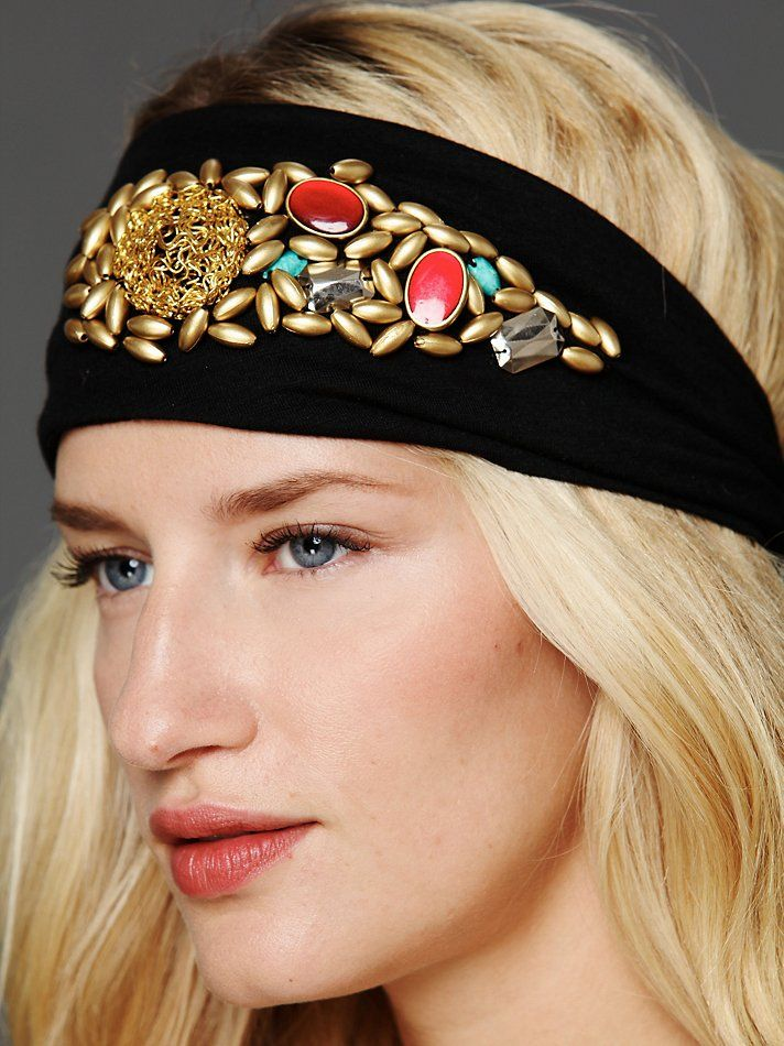 Namrata Joshiura Dee Embellished Turban at Free People Clothing Boutique  Scarf Belt 35736b449ae