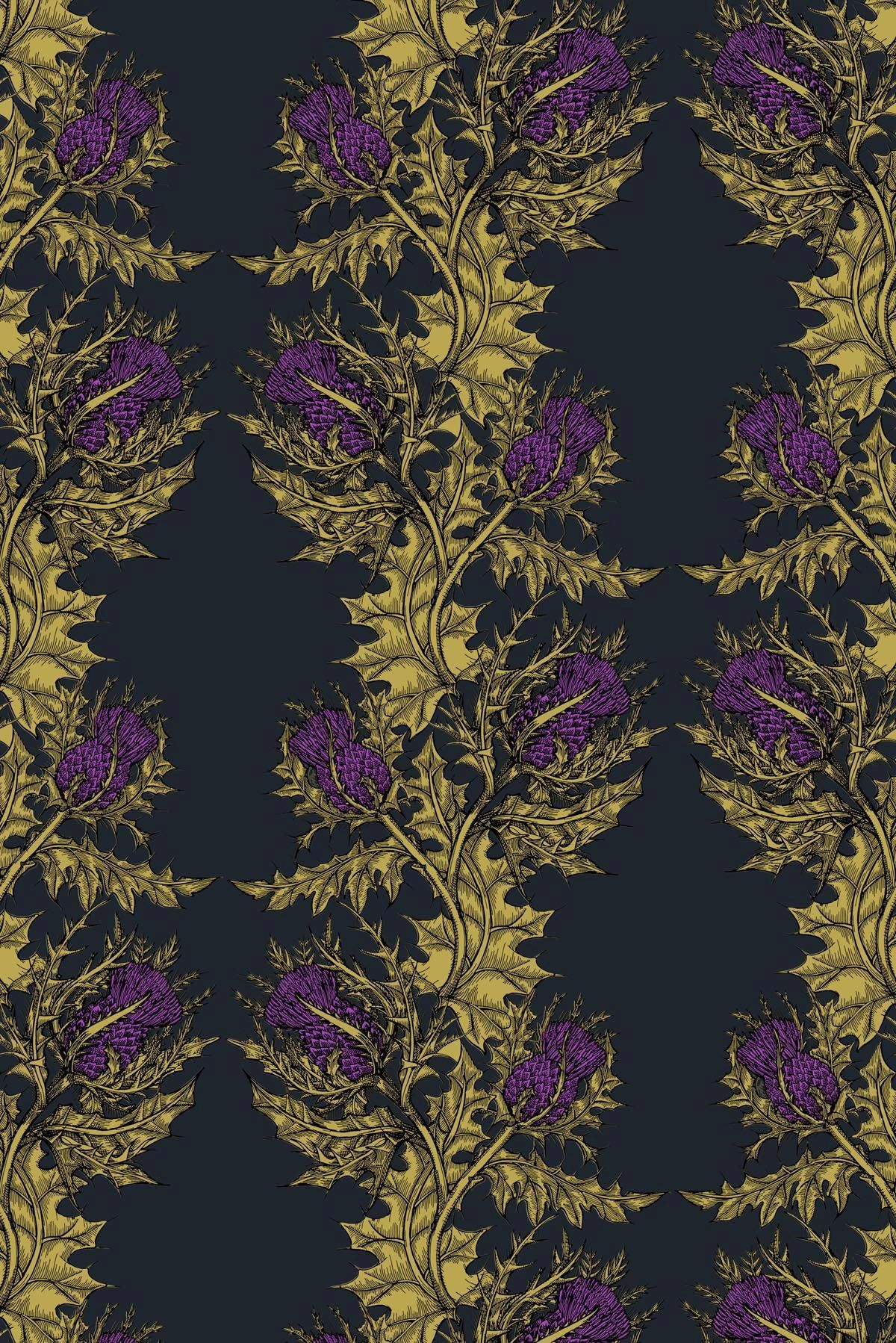Grand Thistle Wallpaper From The Scottish Interiors Company Timorous Beasties