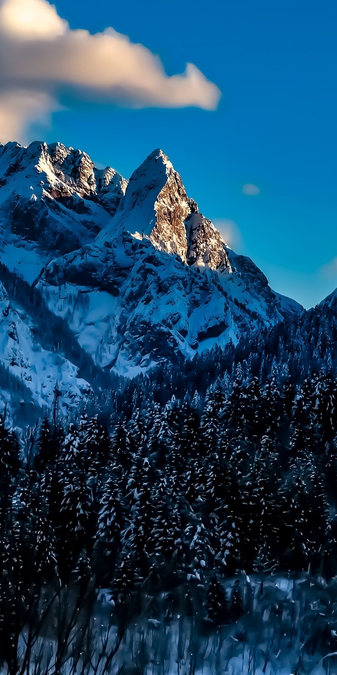 Snow Mountains Winter Italy 1080x2160 Wallpaper Iphone