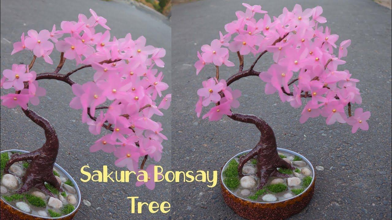 Cara Mudah Membuat Bunga Sakura Dari Plastik Shopping Bag Youtube Bunga Kertas Tisu Bunga Bunga Kertas