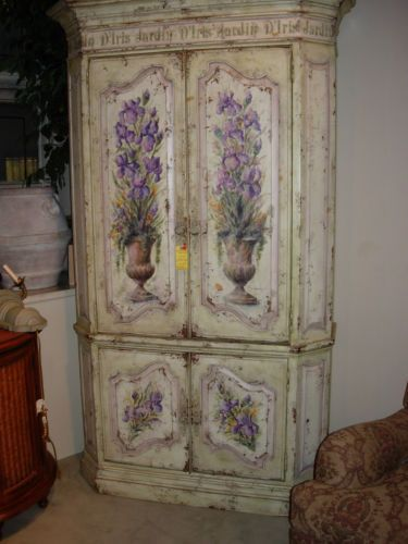 habersham painted corner cupboard armoire ebay - Habersham Furniture