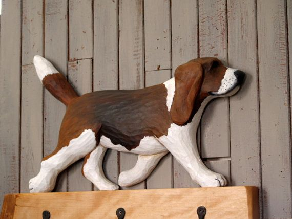 Beagle Coat Rack For Fathers Day Or A By Cattailswoodwork On Etsy