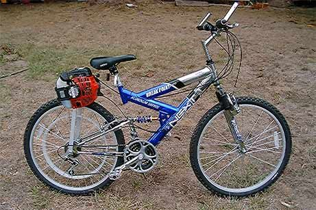Golden Eagle Motorized Bicycle On A Next Bike With A 25cc Tanaka