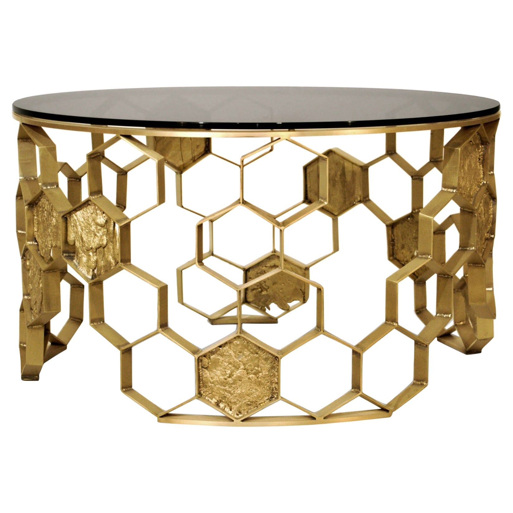 Sequoia Center Table In Brass With Walnut Top In 2021 Center Table Contemporary Coffee Table Stunning Interior Design [ 1648 x 1648 Pixel ]