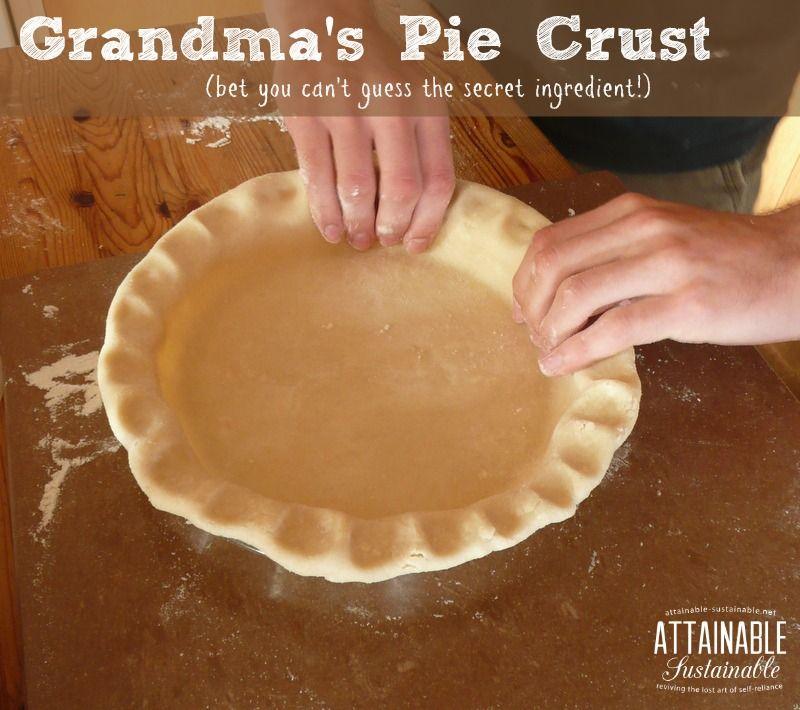 Pie Crust Recipe - Grandma's Recipe From Scratch | Crusts